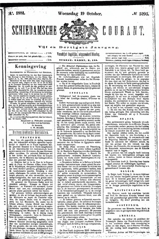 Schiedamsche Courant 1881-10-19