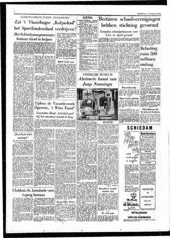 Rotterdamsch Parool / De Schiedammer 1955-02-17