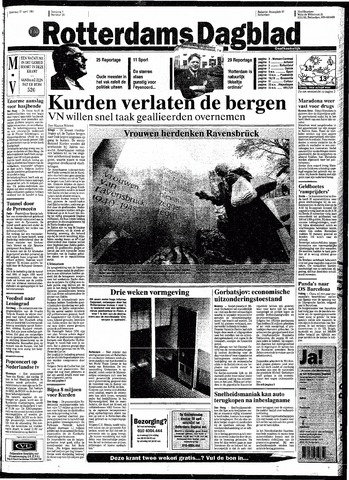 Rotterdamsch Nieuwsblad / Schiedamsche Courant / Rotterdams Dagblad / Waterweg / Algemeen Dagblad 1991-04-27
