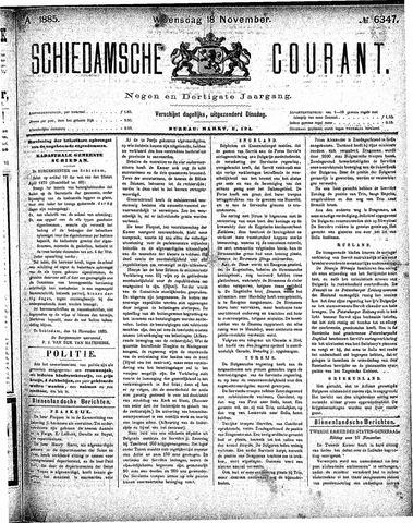 Schiedamsche Courant 1885-11-18