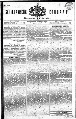 Schiedamsche Courant 1866-10-24