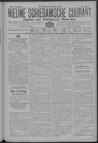 Nieuwe Schiedamsche Courant 1918-10-09