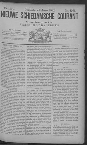 Nieuwe Schiedamsche Courant 1892-02-04