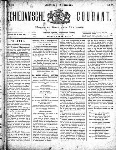 Schiedamsche Courant 1885-01-17