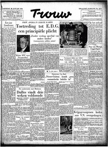 Trouw / De Rotterdammer 1954-01-20