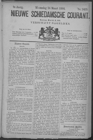 Nieuwe Schiedamsche Courant 1886-03-24