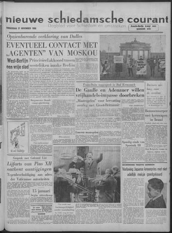 Nieuwe Schiedamsche Courant 1958-11-27