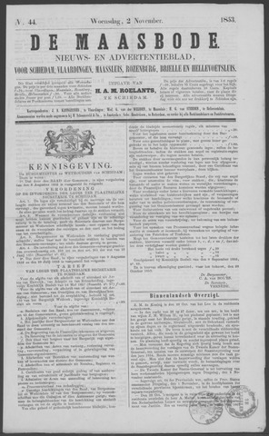 De Maasbode 1853-11-02