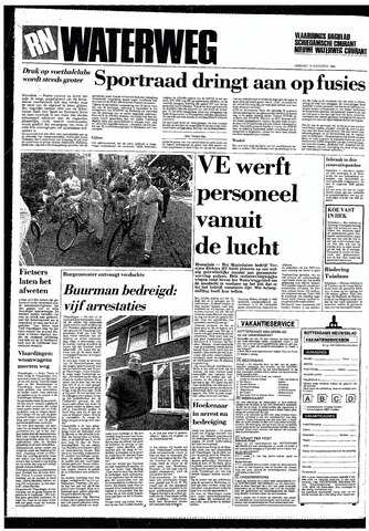 Rotterdamsch Nieuwsblad / Schiedamsche Courant / Rotterdams Dagblad / Waterweg / Algemeen Dagblad 1985-08-13
