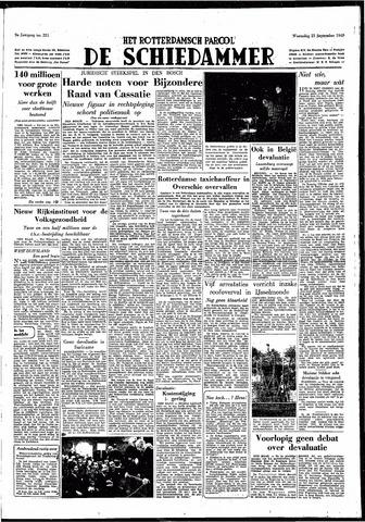 Rotterdamsch Parool / De Schiedammer 1949-09-21