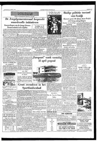 Rotterdamsch Nieuwsblad / Schiedamsche Courant / Rotterdams Dagblad / Waterweg / Algemeen Dagblad 1959-04-08