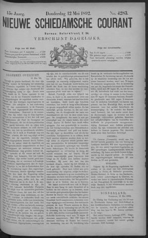 Nieuwe Schiedamsche Courant 1892-05-12