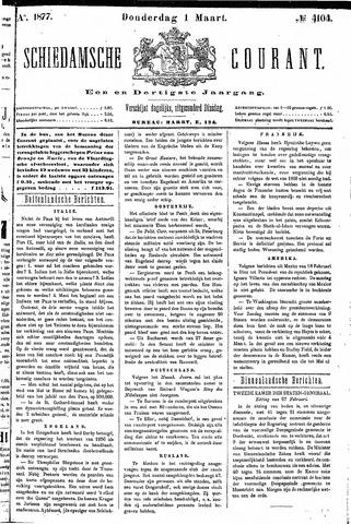 Schiedamsche Courant 1877-03-01