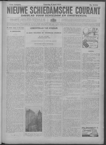Nieuwe Schiedamsche Courant 1929-04-06
