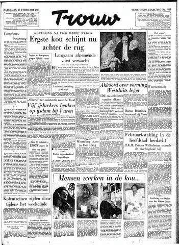Trouw / De Rotterdammer 1956-02-25