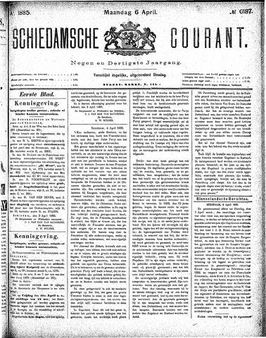 Schiedamsche Courant 1885-04-06