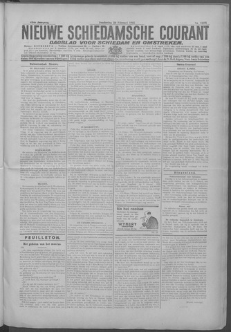 Nieuwe Schiedamsche Courant 1925-02-26