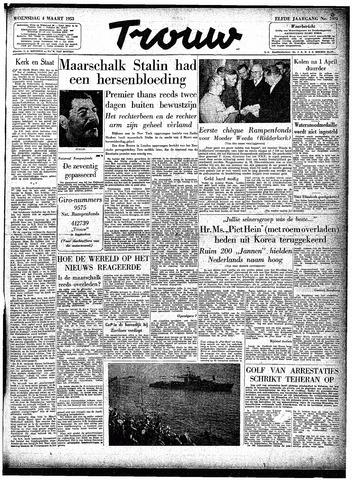 Trouw / De Rotterdammer 1953-03-04