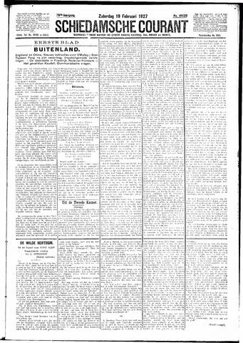 Schiedamsche Courant 1927-02-19