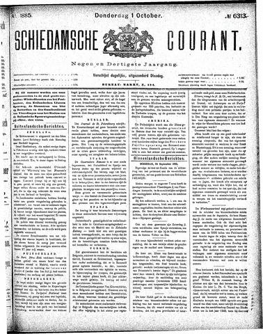 Schiedamsche Courant 1885-10-01