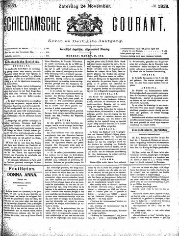 Schiedamsche Courant 1883-11-24