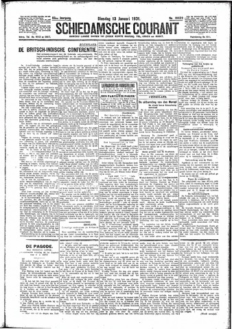 Schiedamsche Courant 1931-01-13
