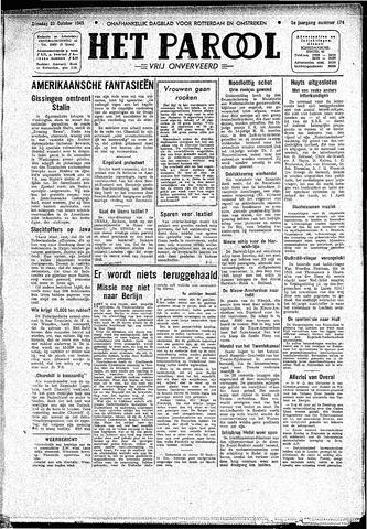 Rotterdamsch Parool / De Schiedammer 1945-10-23