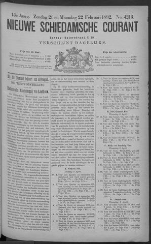 Nieuwe Schiedamsche Courant 1892-02-22