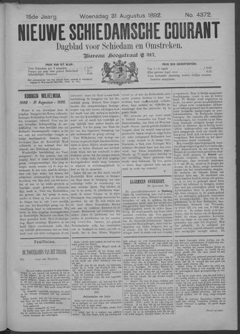 Nieuwe Schiedamsche Courant 1892-08-31