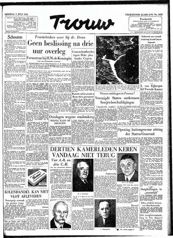 Trouw / De Rotterdammer 1956-07-03