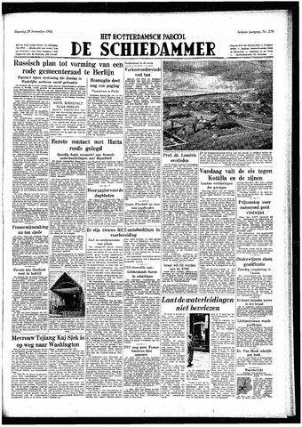 Rotterdamsch Parool / De Schiedammer 1948-11-29