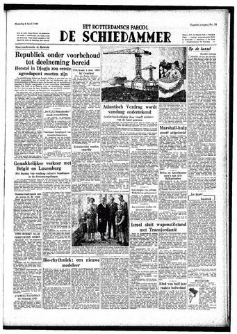Rotterdamsch Parool / De Schiedammer 1949-04-04