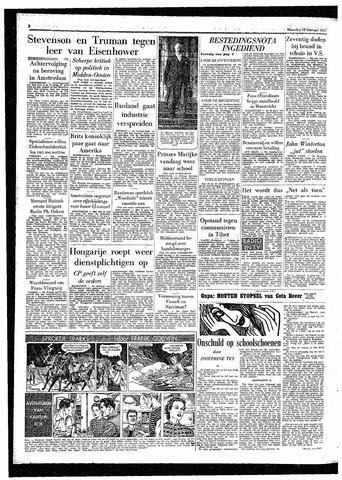 Rotterdamsch Parool / De Schiedammer 1957-02-18