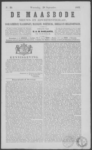 De Maasbode 1853-09-28