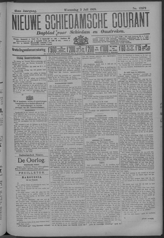 Nieuwe Schiedamsche Courant 1918-07-03