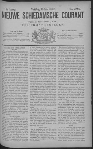 Nieuwe Schiedamsche Courant 1892-05-13