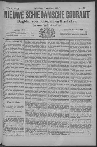 Nieuwe Schiedamsche Courant 1897-10-05
