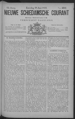 Nieuwe Schiedamsche Courant 1892-06-18