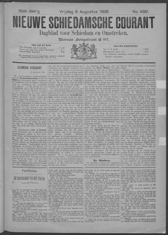 Nieuwe Schiedamsche Courant 1892-08-05