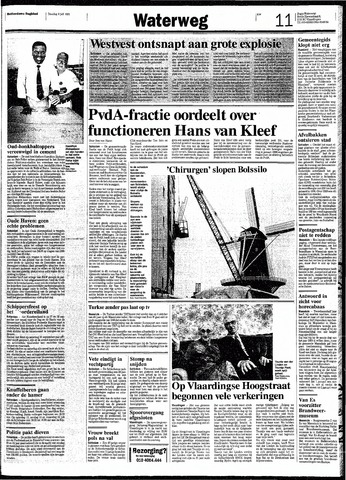 Rotterdamsch Nieuwsblad / Schiedamsche Courant / Rotterdams Dagblad / Waterweg / Algemeen Dagblad 1991-07-09