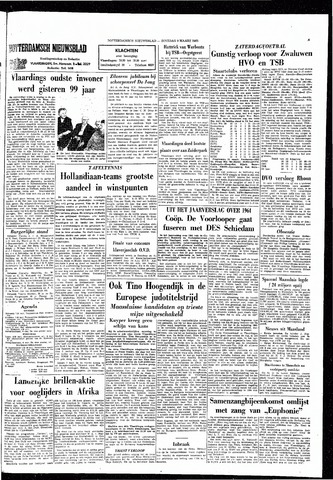 Rotterdamsch Nieuwsblad / Schiedamsche Courant / Rotterdams Dagblad / Waterweg / Algemeen Dagblad 1965-03-09