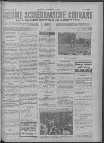 Nieuwe Schiedamsche Courant 1929-09-20