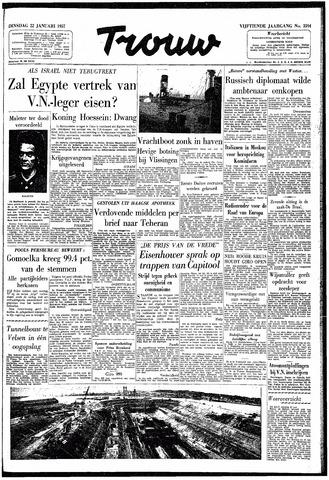 Trouw / De Rotterdammer 1957-01-22