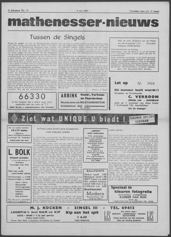 Mathenesser Nieuws 1963-05-09