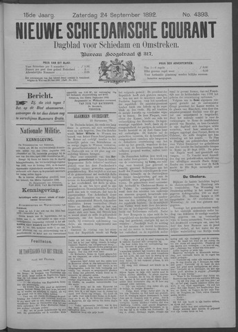Nieuwe Schiedamsche Courant 1892-09-24