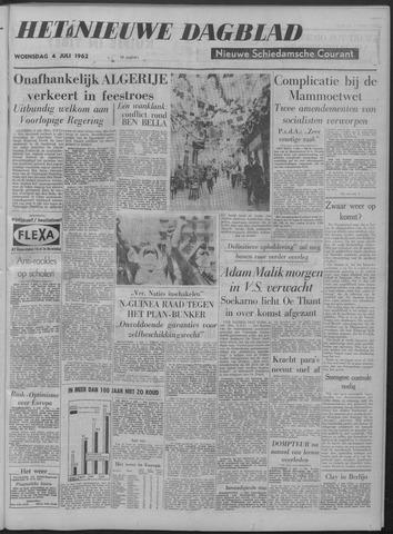 Nieuwe Schiedamsche Courant 1962-07-04
