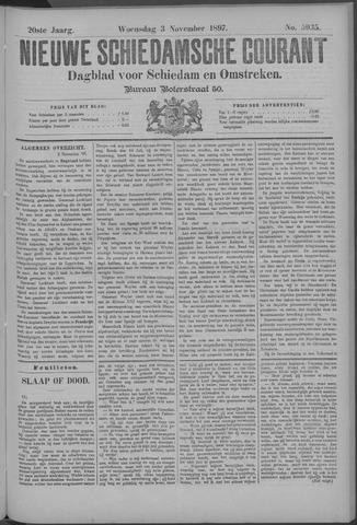 Nieuwe Schiedamsche Courant 1897-11-03