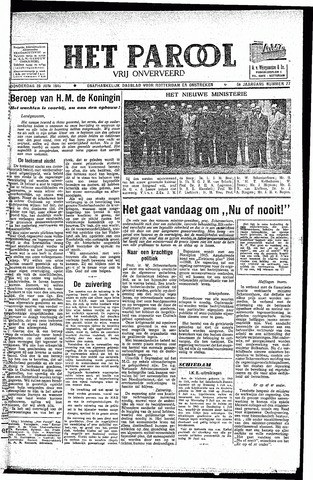 Rotterdamsch Parool / De Schiedammer 1945-06-28