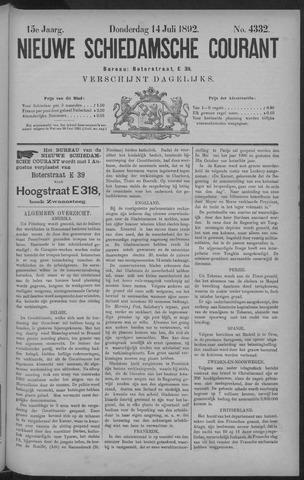 Nieuwe Schiedamsche Courant 1892-07-14