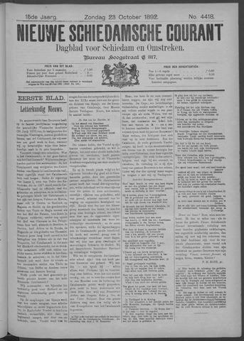 Nieuwe Schiedamsche Courant 1892-10-23